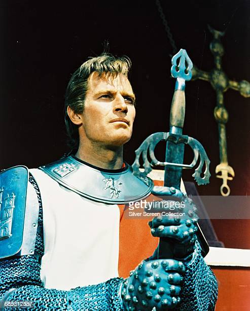 Actor Charlton Heston as Spanish hero Rodrigo Diaz de Vivar in the film 'El Cid' 1961