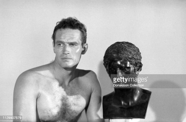 "Actor Charlton Heston portrait session for the movie ""Ben Hur"" in 1959."