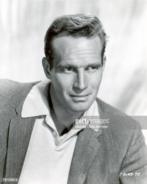 Actor Charlton Heston poses for a portrait in 1955