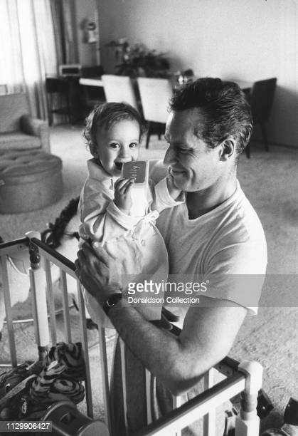 Actor Charlton Heston with his son Fraser Clarke Heston in 1959