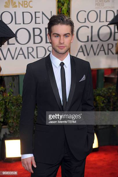 Actor Chase Crawford arrives at the 67th Annual Golden Globe Awards held at The Beverly Hilton Hotel on January 17 2010 in Beverly Hills California