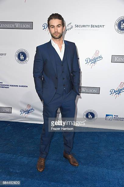 Actor Chase Crawford arrives at the Los Angeles Dodgers Foundation Blue Diamond Gala at Dodger Stadium on July 28 2016 in Los Angeles California