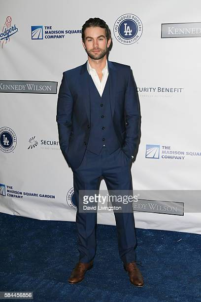Actor Chase Crawford arrives at the Los Angeles Dodgers Foundation Blue Diamond Gala at the Dodger Stadium on July 28 2016 in Los Angeles California