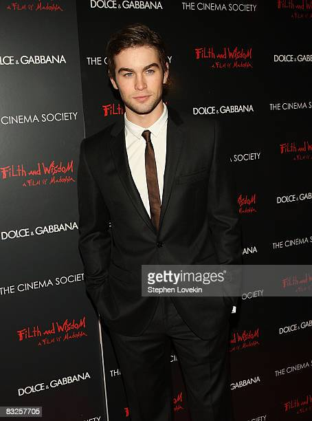 Actor Chase Crawford attends a screening of Filth and Wisdom hosted by The Cinema Society and Dolce and Gabbana at the IFC Center on October 13 2008...