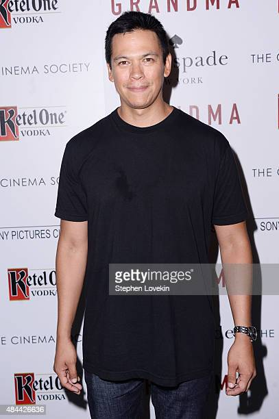 Actor Chaske Spencer attends a screening of Sony Pictures Classics' 'Grandma' hosted by The Cinema Society and Kate Spade at Landmark Sunshine Cinema...