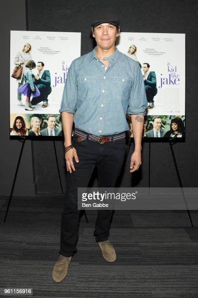 Actor Chaske Spencer attends the A Kid Like Jake New York Premiere at The Landmark at 57 West on May 21 2018 in New York City