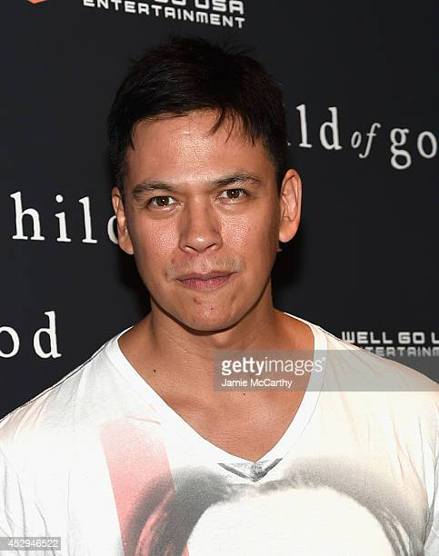 Actor Chaske Spencer attends the Child Of God premiere at Tribeca Grand Hotel on July 30 2014 in New York City