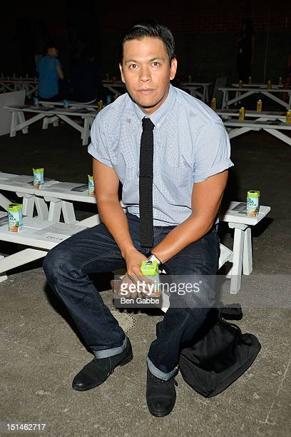 Actor Chaske Spencer attends the General Idea show during Spring 2013 MercedesBenz Fashion Week at EYEBEAM on September 7 2012 in New York City