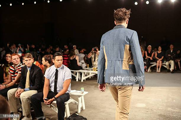 Actor Chaske Spencer attends the General Idea spring 2013 fashion show during MercedesBenz Fashion Week at Eyebeam Studio on September 7 2012 in New...