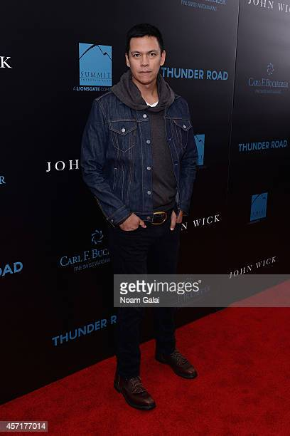 Actor Chaske Spencer attends the John Wick New York Premiere at Regal Union Square Theatre Stadium 14 on October 13 2014 in New York City