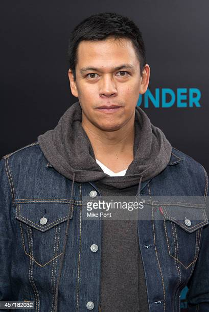Actor Chaske Spencer attends the John Wick New York Premiere at the Regal Union Square Theatre Stadium 14 on October 13 2014 in New York City