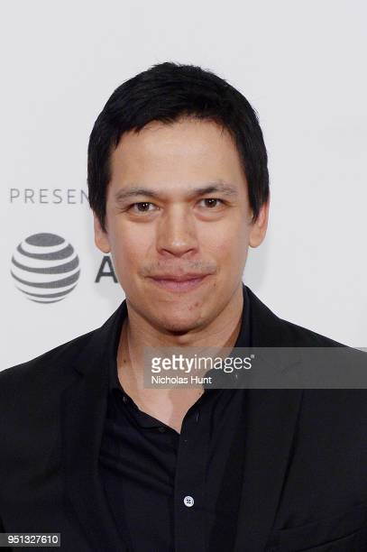 Actor Chaske Spencer attends the Screening of Woman Walks Ahead 2018 Tribeca Film Festival at BMCC Tribeca PAC on April 25 2018 in New York City