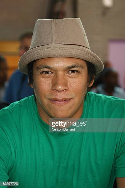 Actor Chaske Spencer attends the Staples Do Something 101 School Supply Drive at Children's Aid Society Dunlevy Milbank Boys and Girls Club on August...
