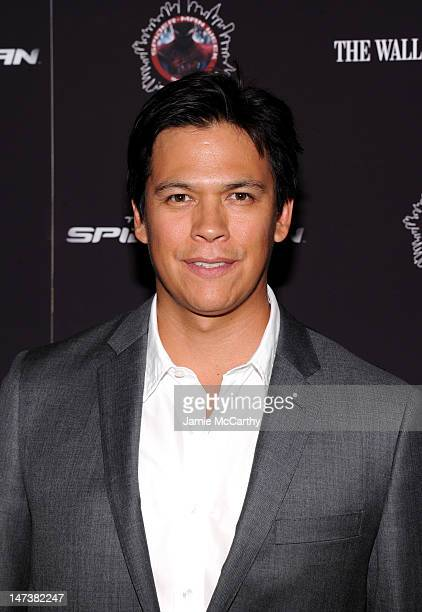 Actor Chaske Spencer attends the The Amazing SpiderMan New York Screening at Regal Union Square on June 28 2012 in New York City