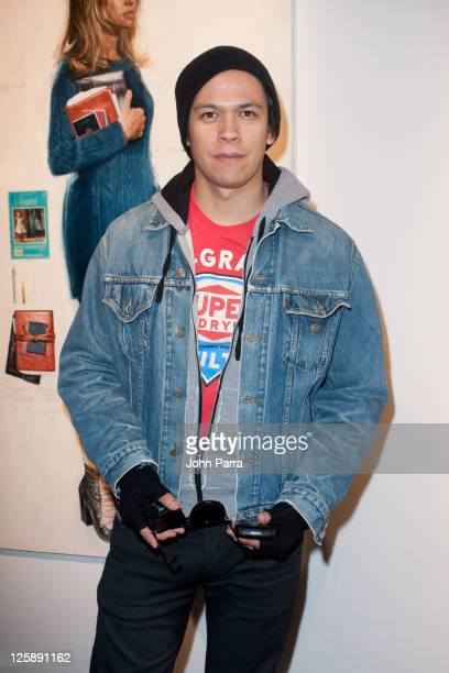 Actor Chaske Spencer attends the Woolrich John Rich Bros Fall 2011 presentation during MercedesBenz Fashion Week at Eyebeam on February 14 2011 in...
