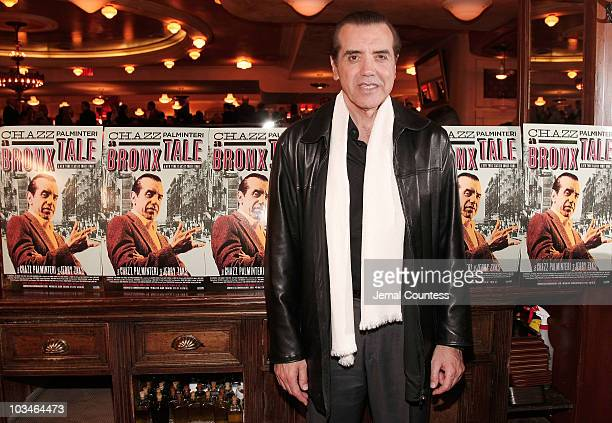 Actor Chazz Palmentari at the afterparty for the opening night Broadway Production of A Bronx Tale at Bond 45 on October 25 2007 in New York City