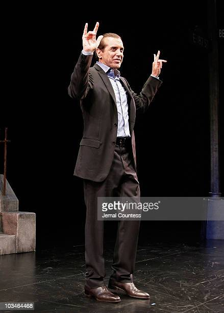 Actor Chazz Palmentari at the Curtain Call for the Broadway Production of A Bronx Tale at the Walter Kerr Theatre on October 25 2007 in New York City