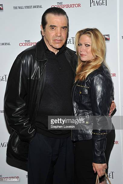 Actor Chazz Palminteri and Gianna Palminteri attend the New York Premiere of The Conspirator at The Museum of Modern Art on April 11 2011 in New York...