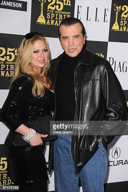Actor Chazz Palminteri and Gianna Ranaudo arrive at the 25th Film Independent Spirit Awards held at Nokia Theatre LA Live on March 5 2010 in Los...