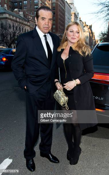 Actor Chazz Palminteri and wife actress Gianna Ranaudo aka Gianna Rains are seen arriving to the Museum of the Moving Image 28th Annual Salute...