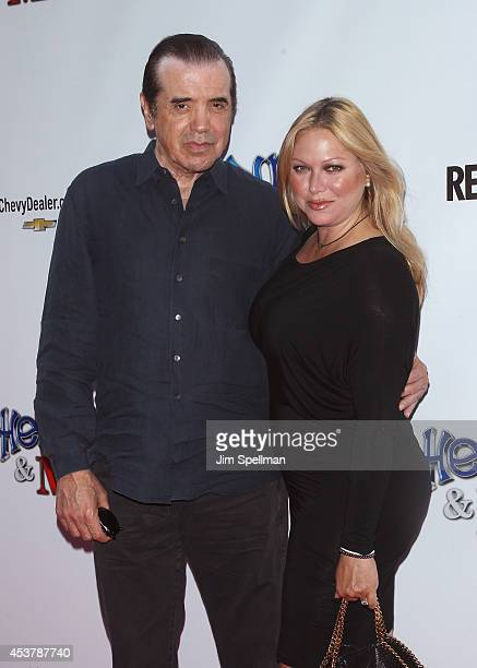 Actor Chazz Palminteri and wife Gianna Ranaudo attends the Henry Me New York Premiere at Ziegfeld Theatre on August 18 2014 in New York City