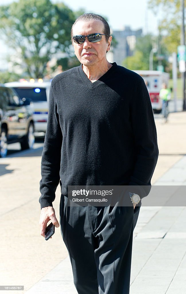 Actor Chazz Palminteri attends 2013 Thrill Show photocall at the Rocky statue at the Philadelphia Museum of Art on September 21, 2013 in Philadelphia, Pennsylvania.