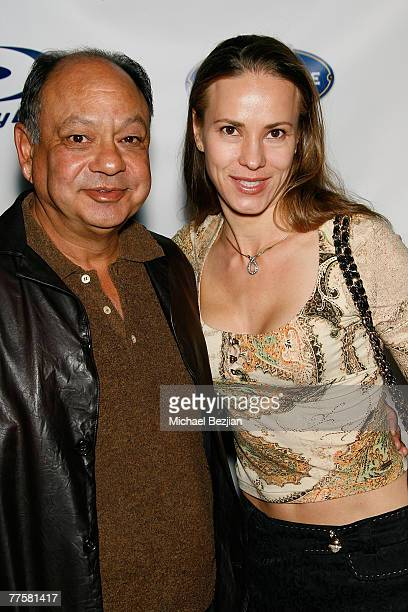 Actor Cheech Marin and actress Natasha Rubin arrive at the 'Ratatouille' and 'Cars' DVD Release Party at Social Hollywood on October 30 2007 in...