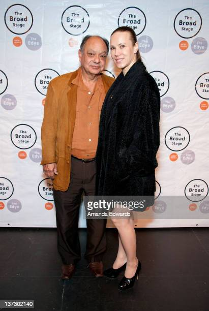 Actor Cheech Marin and his wife Natasha attend the opening night of Thornton Wilder's Our Town at The Broad Stage on January 18 2012 in Santa Monica...