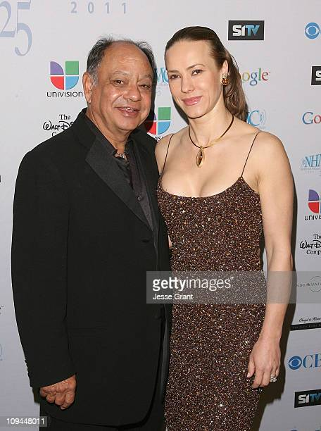 Actor Cheech Marin and his wife Natasha Marin arrive to the 14th Annual Impact Awards Gala held at the Beverly Wilshire Hotel on February 25 2011 in...