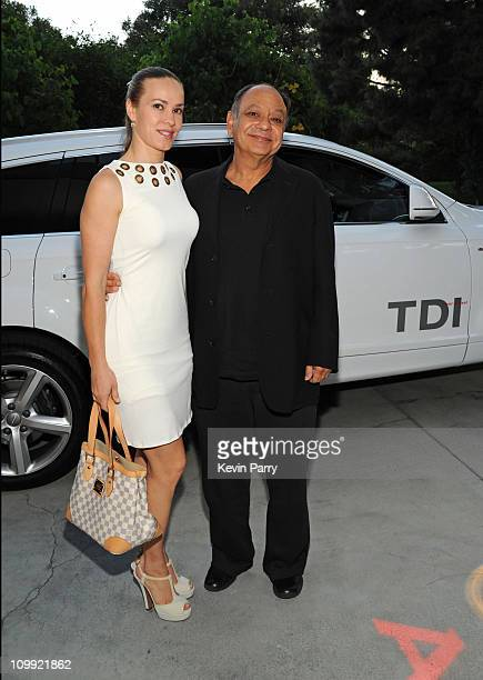 Actor Cheech Marin and his wife Natasha Rubin arrive in an Audi TDI to the Audi Clean Diesel on June 23 2009 in Beverly Hills California