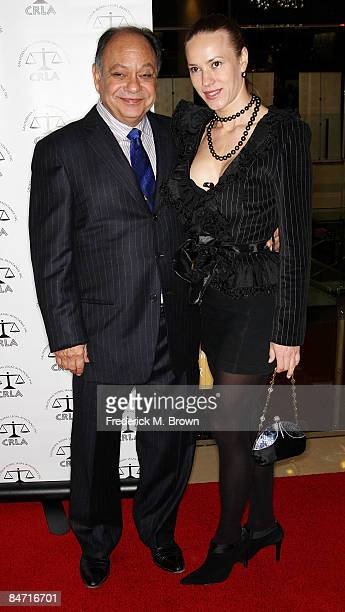 Actor Cheech Marin and Natasha Rubin attend the California Rural Legal Assistance Teguino Celebration Gala at the Beverly Hilton Hotel on February 9...