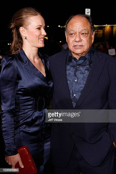 Actor Cheech Marin and wife Natasha Rubin arrive at the Los Angeles premiere of Up In The Air at Mann Village Theatre on November 30 2009 in Westwood...