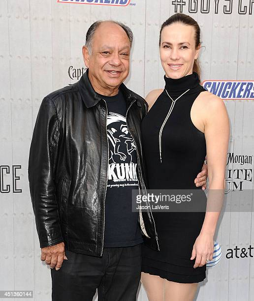 Actor Cheech Marin and wife Natasha Rubin attend Spike TV's Guys Choice Awards at Sony Studios on June 7 2014 in Los Angeles California