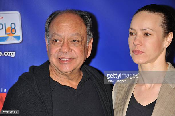 Actor Cheech Marin and wife Natasha Rubin attend the launch of the California Arts Council Create a State campaign to sell one million license plates...