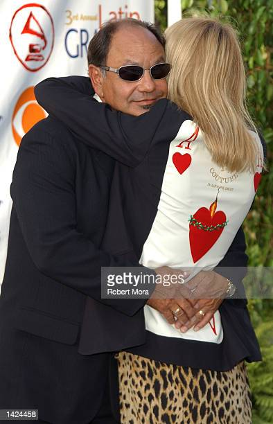 Actor Cheech Marin and wife Patti Heid attend the 3rd Annual Latin Grammy Awards at the Kodak Theatre on September 18 2002 in Hollywood California