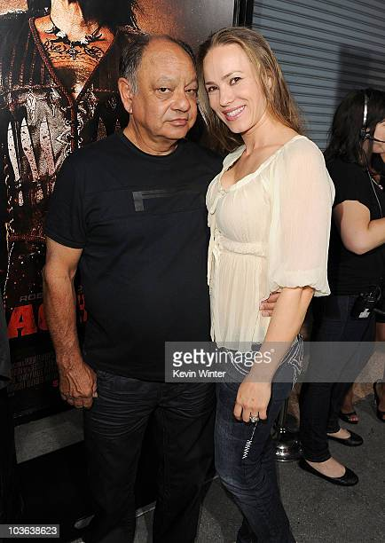 Actor Cheech Marin and wife pianist Natasha Marin arrive at 20th Century Fox's screening of Machete at the Orpheum Theater on August 25 2010 in Los...