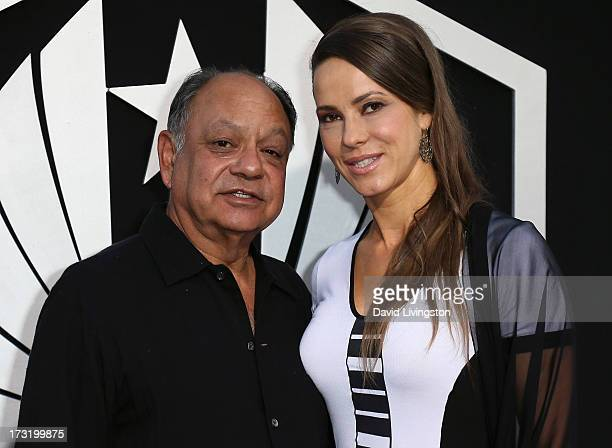 Actor Cheech Marin and wife pianist Natasha Rubin attend the premiere of Warner Bros Pictures and Legendary Pictures' Pacific Rim at the Dolby...