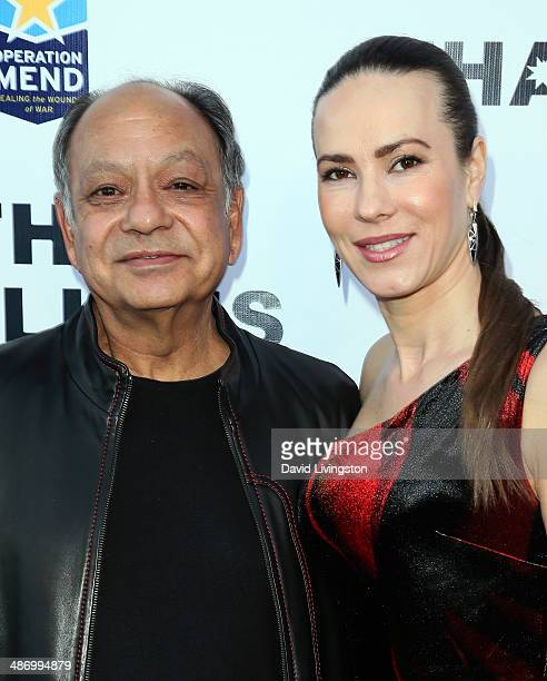 Actor Cheech Marin and wife Russian pianist Natasha Rubin attend the 56th Annual Thalians Gala at the House of Blues Sunset Strip on April 26 2014 in...