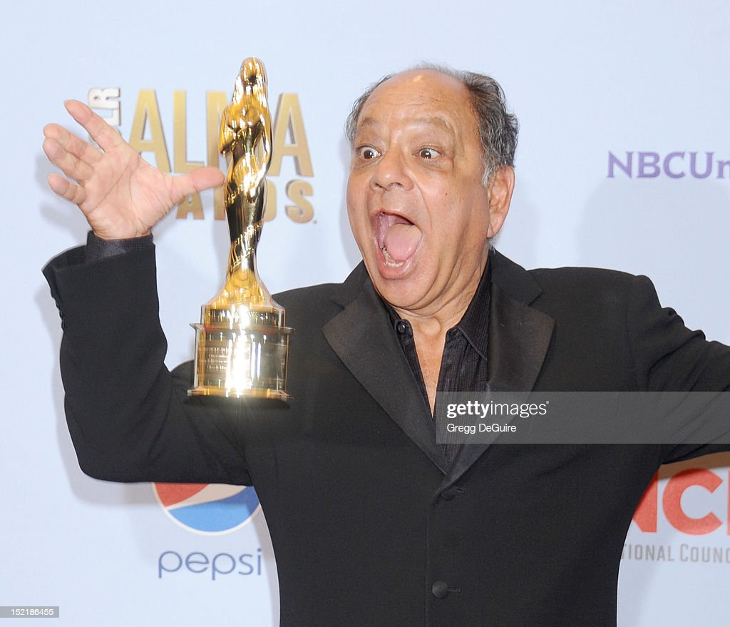 Actor Cheech Marin poses in the press room at the 2012 NCLR ALMA Awards at Pasadena Civic Auditorium on September 16, 2012 in Pasadena, California.