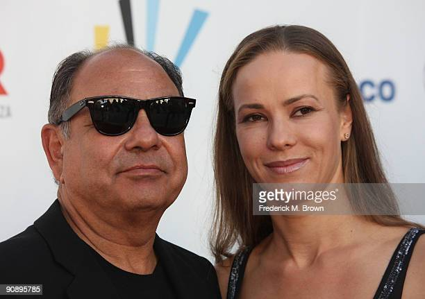 Actor Cheech Marin with wife Natasha Marin arrive at the 2009 ALMA Awards held at Royce Hall on September 17 2009 in Los Angeles California