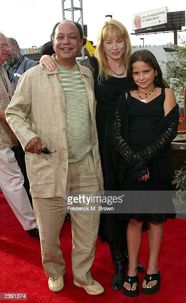 Actor Cheech Marin with wife Patti Heid and daugther attends the world premiere of Touchstone Pictures' film Open Range at the Cinerama Dome August...