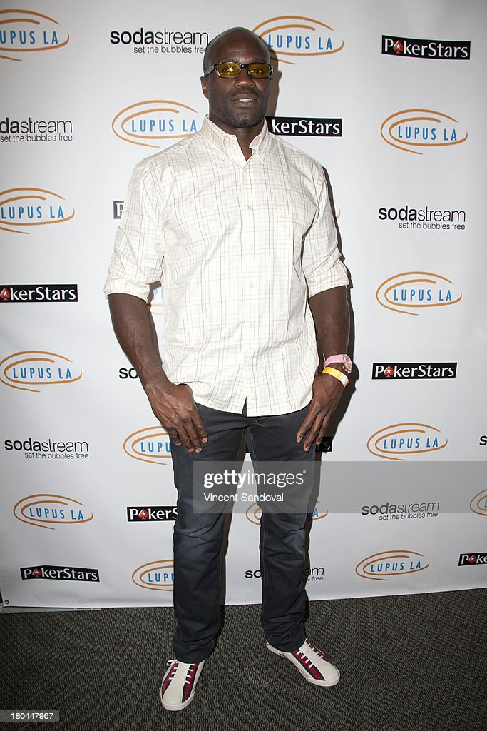 Actor Cheick Kongo attends Get Lucky For Lupus LA at Peterson Automotive Museum on September 12, 2013 in Los Angeles, California.