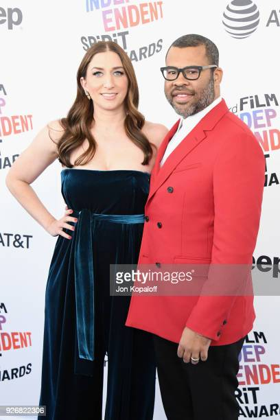Actor Chelsea Peretti and directorwriter Jordan Peele attend the 2018 Film Independent Spirit Awards on March 3 2018 in Santa Monica California