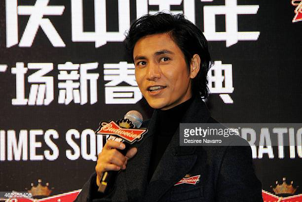 Actor Chen Kun attends Maggie Q Toasts The Chinese New Year at Times Square on February 7 2015 in New York City