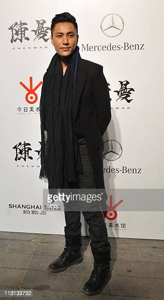 Actor Chen Kun attends the Photography Exhibition By Chen Man at Today Art Museum on April 23 2011 in Beijing China