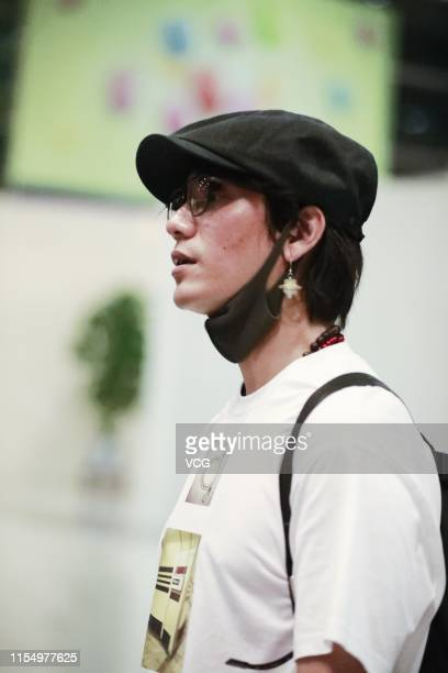 Actor Chen Kun reacts at Beijing Capital International Airport on June 10 2019 in Beijing China