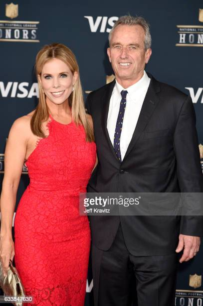Actor Cheryl Hines and radio host Robert F Kennedy Jr attend 6th Annual NFL Honors at Wortham Theater Center on February 4 2017 in Houston Texas