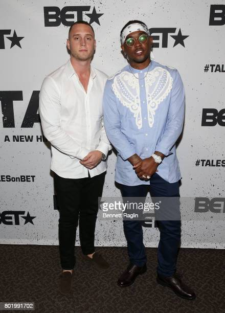 Actor Chet Hanks and producer London London da on the Track Holmes attend the screening of the BET series Tales at DGA Theater on June 26 2017 in Los...