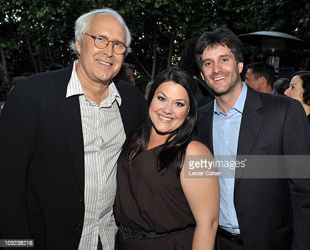 Actor Chevy Chase actress Brooke Elliott and Sony Pictures Television's President of Programming Jamie Erlicht attend the Sony Pictures Television...