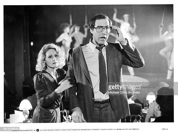 Actor Chevy Chase and actress Beverly D'Angelo on set of the Warner Bros movie National Lampoon's 'European Vacation' in 1985
